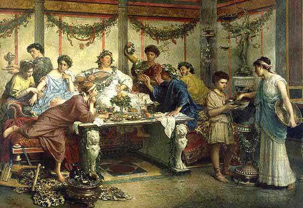 antica roma banchetto